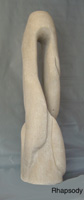 """Rhapsody"" Sculpture by Carl Wright. 14""w x 9""d x 40""t. Limestone.  Represented by: WSG Gallery, Martinsburg, WV. $6,500."